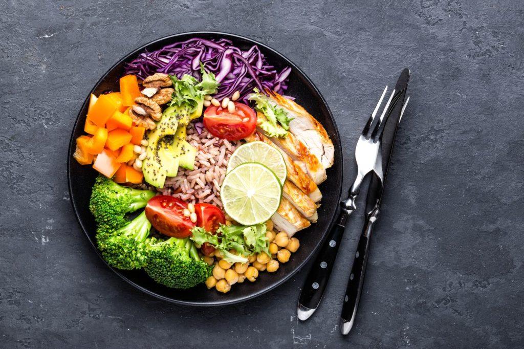 Buddah Bowl avec peu de viande