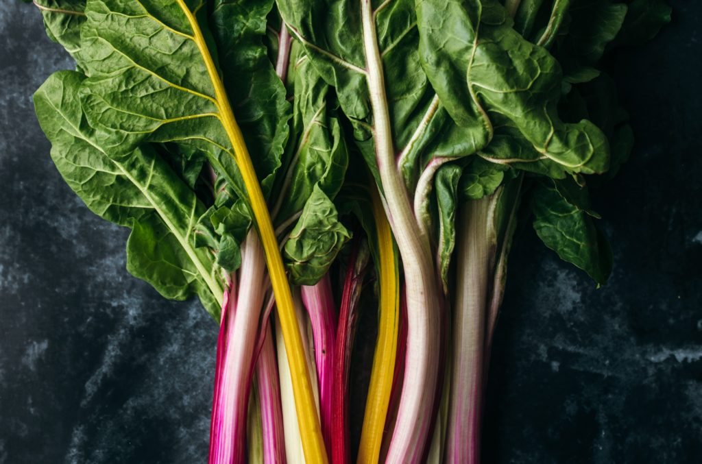 Rainbow chard and dulse bites