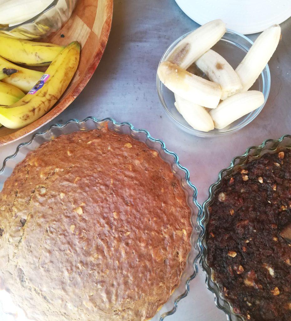 Banana cake au pain rassis