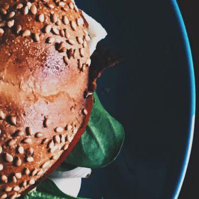 Wild mushroom and millet burger
